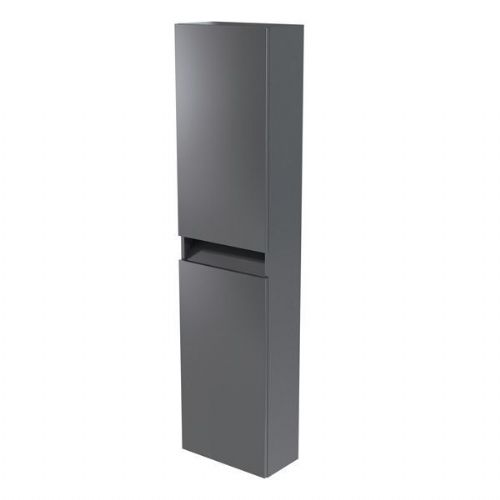 Kartell Ikon Wall Mounted Tall Storage Unit - 1600mm High - Grey - Right Handed